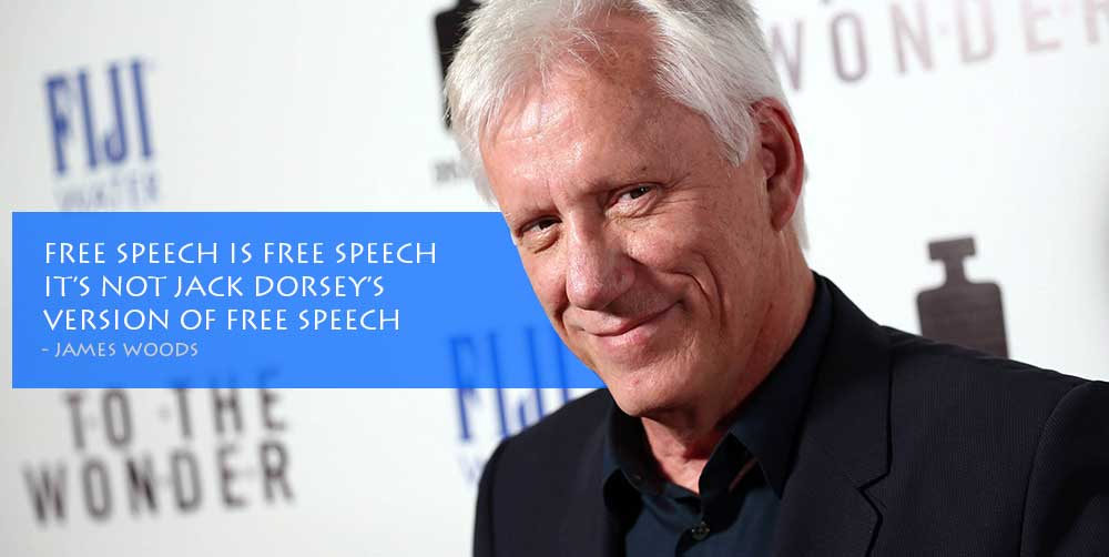 James Woods NOT Twitter Banned, Temporary Suspension ONLY